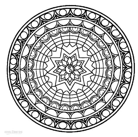 printable mandala coloring pages  kids coolbkids