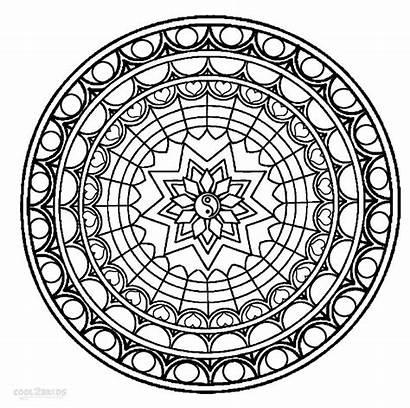 Mandala Coloring Pages Mandalas Printable Cool Sheets