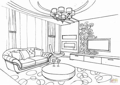 Coloring Living Pages Ornament Drawing Sheet Interior