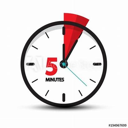Minutes Clock Five Icon Vector Symbol Minute
