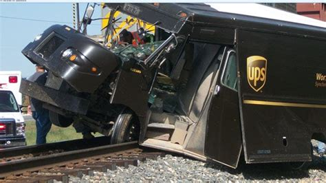 train hits delivery truck  stilwell crossing newson