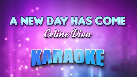 A New Day Has Come (karaoke Version With