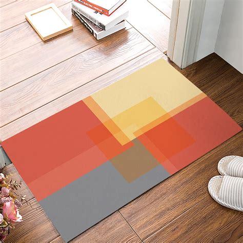 modern color block square geometric orange yellow  grey