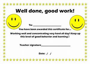 elliemanfield1 profile tes With well done certificate template