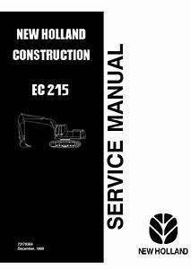 New Holland Ec215 Excavator Service Manual Pdf