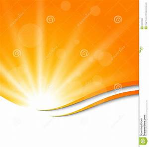 Abstract Orange Background With Sun Light Rays Stock ...