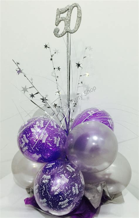 Photos Of Purple And Silver Birthday Party Decorations