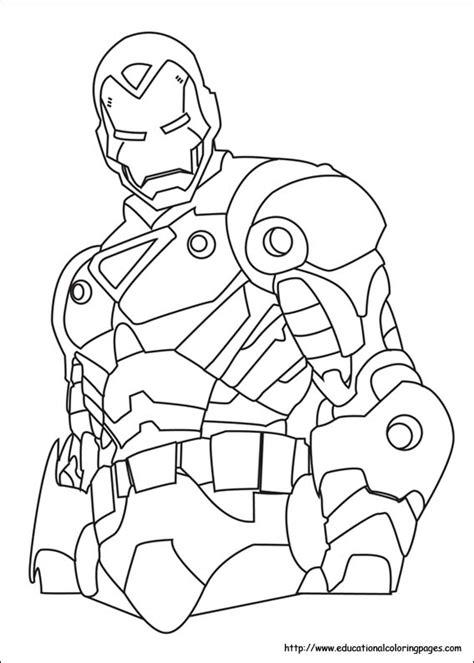iron man coloring pages   kids