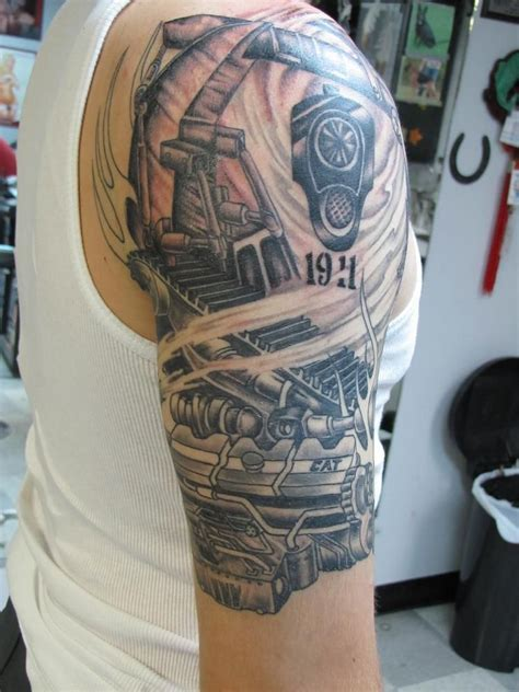 jeff burt cat engine excavator tattoo caterpillar