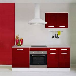 But Meuble De Cuisine : meuble de cuisine rouge brillant leroy merlin ~ Dailycaller-alerts.com Idées de Décoration