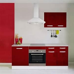 meuble de cuisine rouge brillant leroy merlin With leroy merlin peinture meuble cuisine