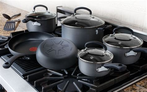 fal anodized cookware hard ultimate nonstick pans cooking non stick piece ceramic pots pan sets thermo spot dishwasher amazon pc