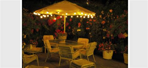 String Lights For Patio Umbrella by 27 Wonderful Patio Umbrella String Lights Pixelmari