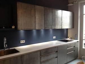 metal kitchen cabinet facades marius aurenti With plaque pour proteger mur cuisine
