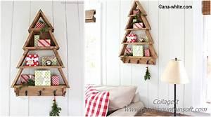 Diy, Christmas, Tree, Wall, Shelf, Tutorial
