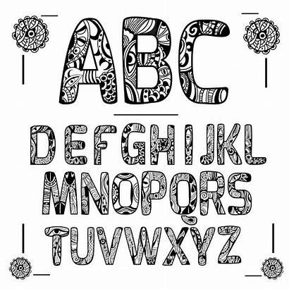 Zentangle Alphabet Letters Alfabeto Letter Mandala Alfabet