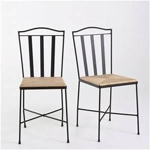 Paille En Metal : chaise fer forg assise paille lot de 2 acheter ce produit au meilleur prix ~ Teatrodelosmanantiales.com Idées de Décoration