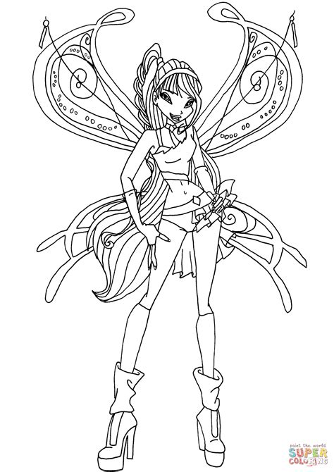 winx da colorare musa believix musa coloring page free printable coloring pages