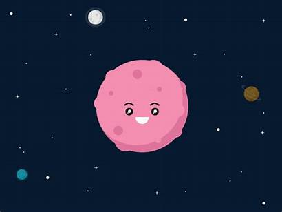 Space Animation Funny Dribbble Planet Astronaut Effects