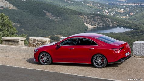 How do you upstage the most powerful car in its class? 2020 Mercedes-AMG CLA 45 (Color: Jupiter Red) - Side | HD ...