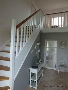 escalier broc et patine le grenier de sara With charming peindre un escalier en gris 9 deco moderne de cage descalier avec peinture rose