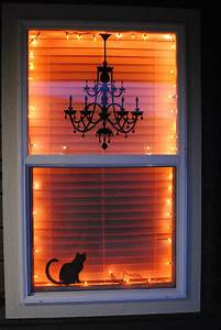 Picture Of ideas to decorate windows with silhouettes on