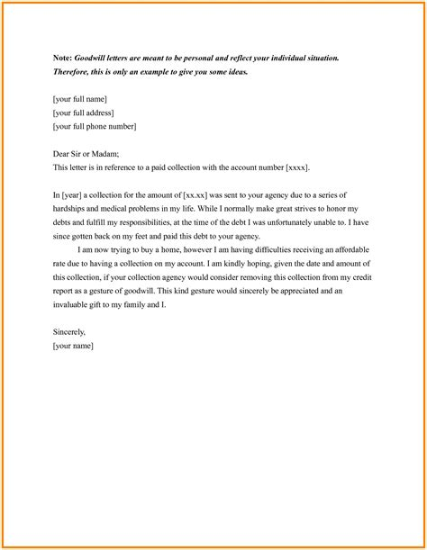 goodwill letters sap appeal