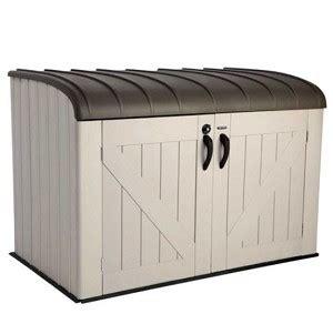 lifetime horizontal shed lifetime outdoor garbage bin 60203 horizontal storage shed