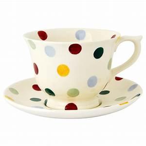 Emma Bridgewater Polka Dot Large Teacup And Saucer Set