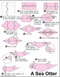 Origami Otter! Crafty Pinterest