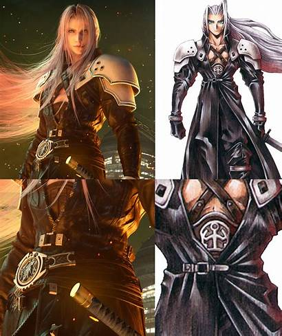 Sephiroth Nomura Fantasy Final Remake Vii Artwork