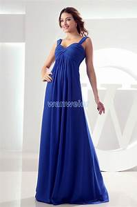 Free shipping maxi long 2016 chiffon modest royal blue for Davids bridal maternity wedding dress