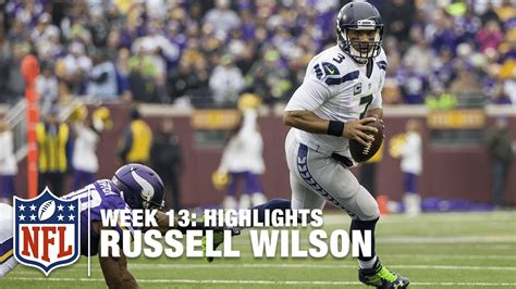 russell wilson runs   vikings week  seahawks