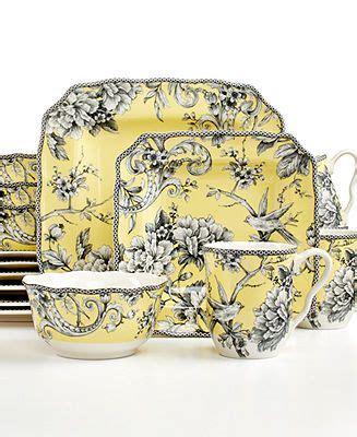 adelaide yellow square  piece set casual dinnerware dining entertaining macy