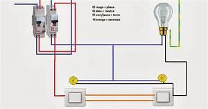 Branchement Interrupteur Avec Voyant : schema electrique va et vient avec t moin ou voyant ~ Dailycaller-alerts.com Idées de Décoration
