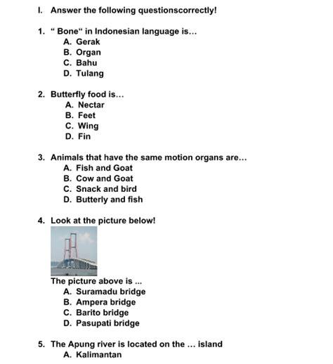 Soal uas/pas bahasa indonesia kelas 5 sd semester 1 dan kunci jawaban. Soal PTS Bahasa Inggris Kelas 5 Semester 1 Kurikulum 2013 ...