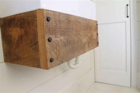 floating wood vanity remodelaholic reclaimed wood floating vanity
