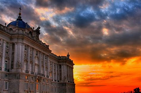 real madrid a atardecer en palacio real madrid sunset in palace flickr