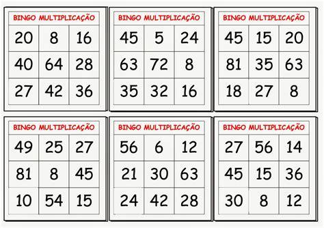 cartela de bingo para imprimir