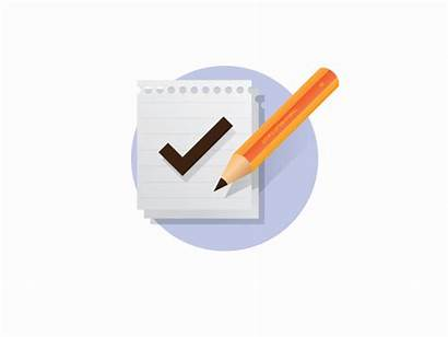 Evaluation Icon Project Dribbble Shots Flat Second
