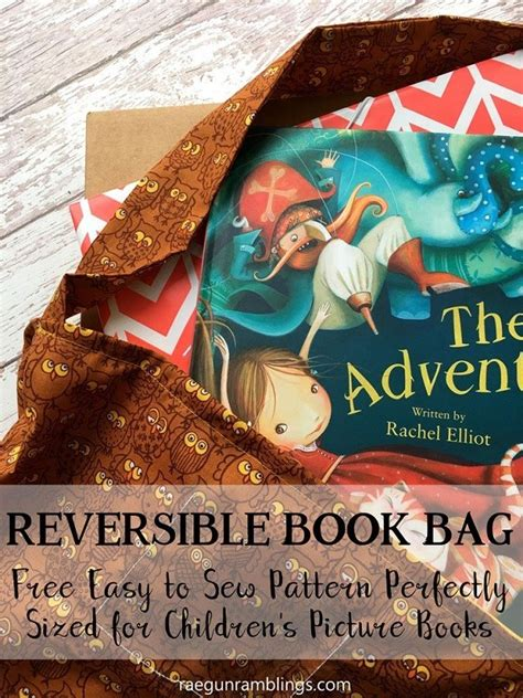 tutorial kids reversible book bag sewing