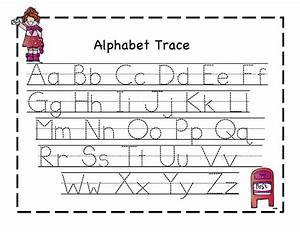 Printable letter to trace activity shelter for Traceable letters for kids