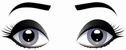 Eyes Eyebrows Clipart Clip Grey Female Eye