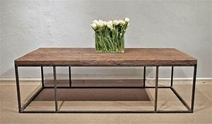 wood plank coffee table with steel frame omero home With wood coffee table with metal frame