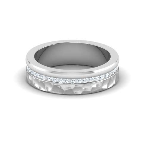 hammered effect wedding rings handmade wedding bands