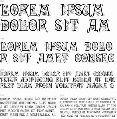 Aesthetic Font Regular Type Characters