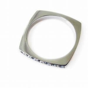 aquamarine wedding band square shaped gemstone ring With square shaped wedding rings