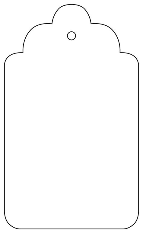 tag outline template clipart