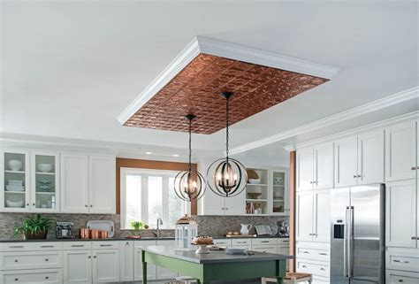 copper tile backsplash for kitchen ceiling ideas armstrong ceilings residential