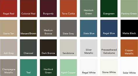 metal colors standing seam metal roof colors note that colors